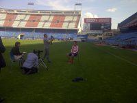 Sesión de fotos en Vicente Calderón