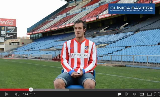 Víctor Mongil, jugador de fútbol operado de cirugía refractiva láser