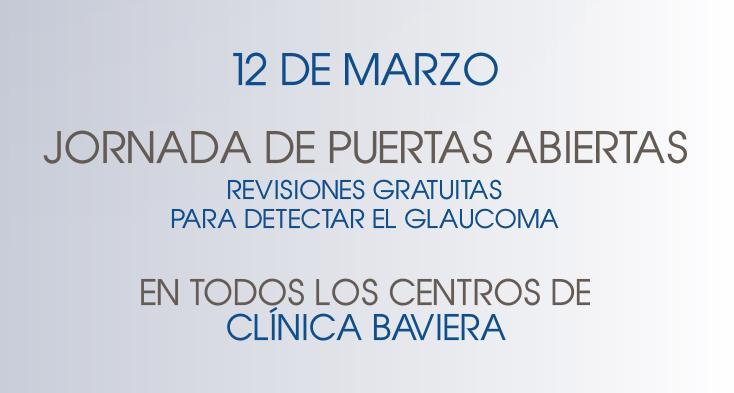 Cartel Semana del Glaucoma en Clínica Baviera