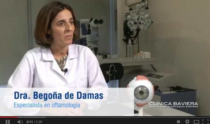 Dra. Begoña de Damas, especialista en oftalmología