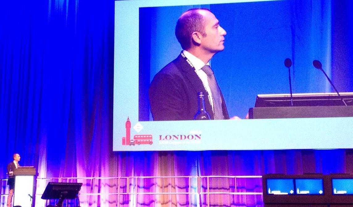 Dr. Rafael Bilbao durante el Congreso de la ESCRS