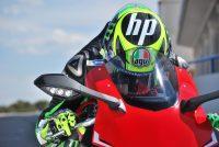 Pol Espargaró durante competención en su moto roja