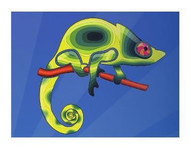 Ilustración de camaleón