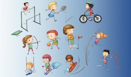 Ilustración actividades deportivas