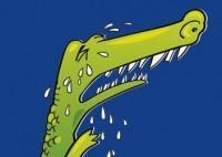 Ilustración cocodrilo y lágrimas