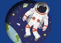 Ilustración astronauta y planeta