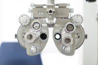 Foróptero en consulta de oftalmología