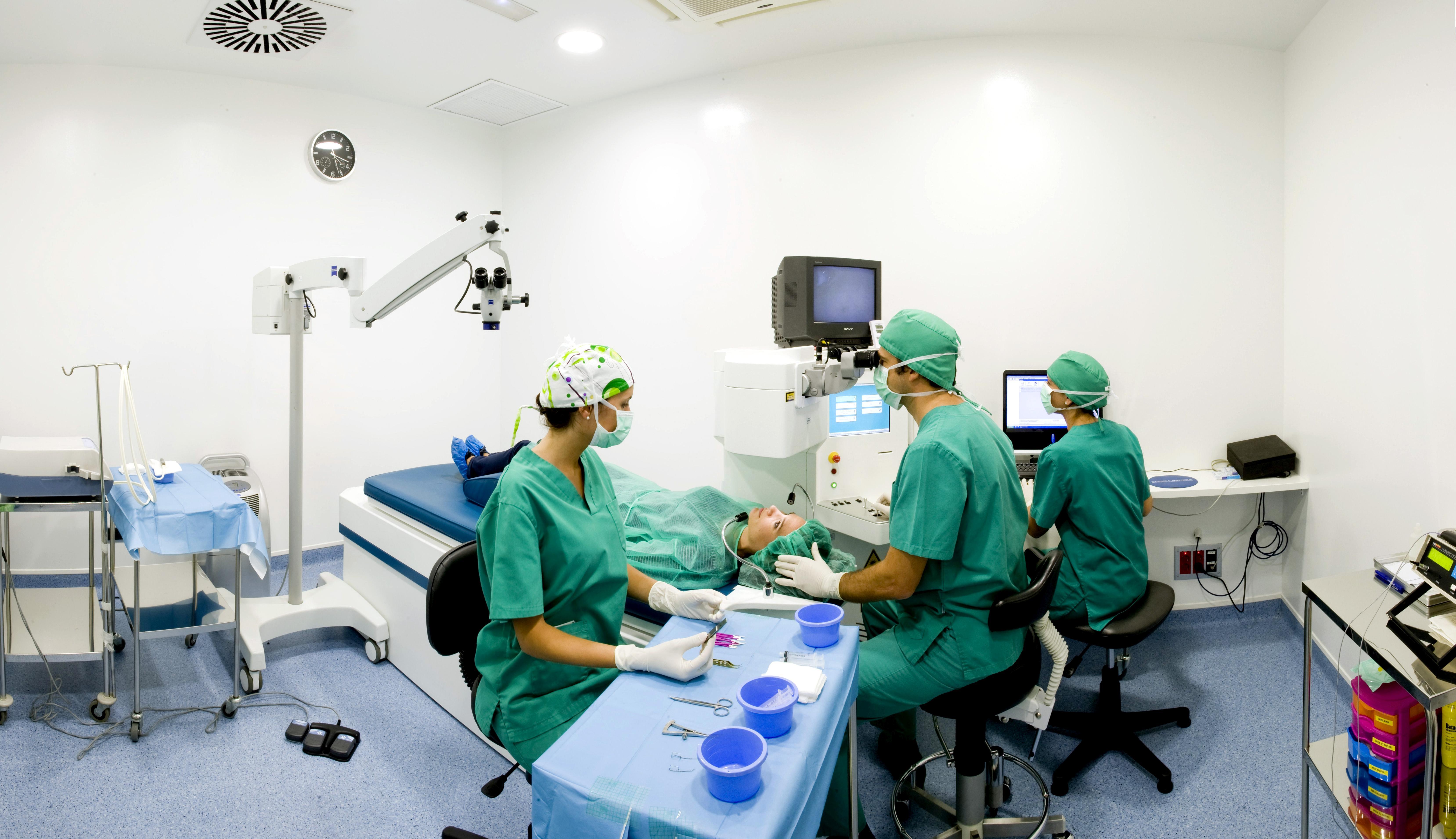 Quirófano de oftalmología