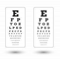Optotipo visión clara y optotipo visión borrosa