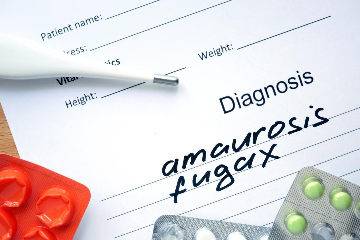 Papel amaurosis fugaz y pastillas