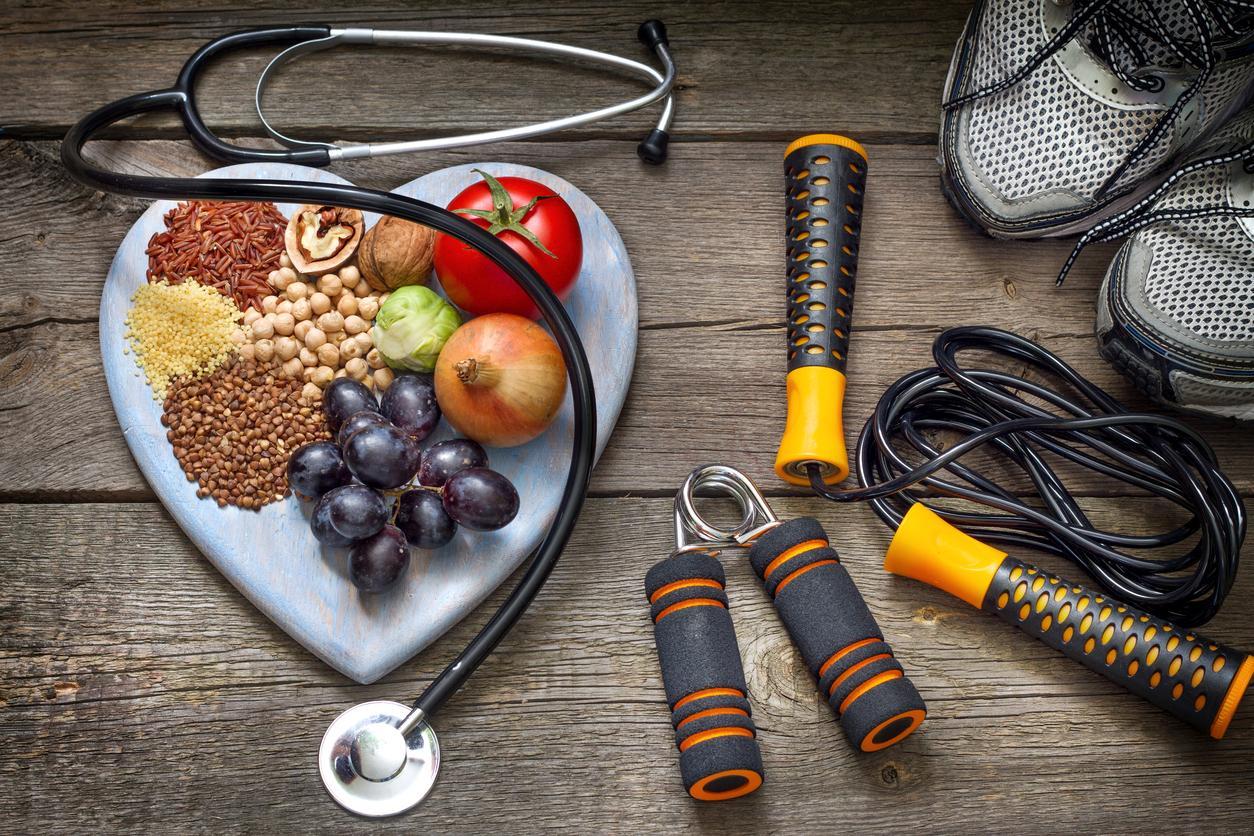 Alimentos, zapatillas, comba y material de gimnasio