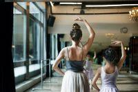 Bailarinas ensayando