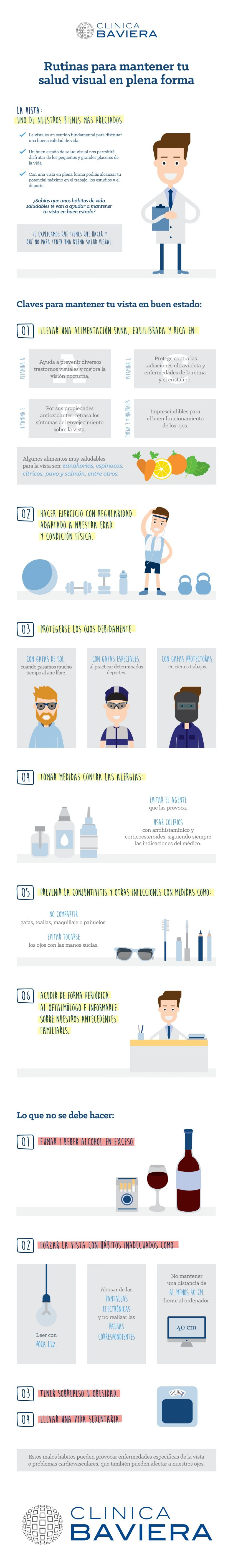 Infografia para mantener tu salud visual en plena forma