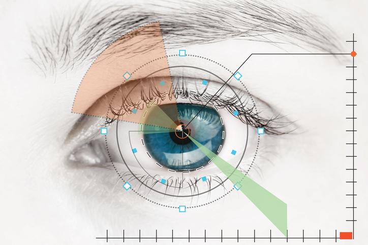 Infografía de ojo