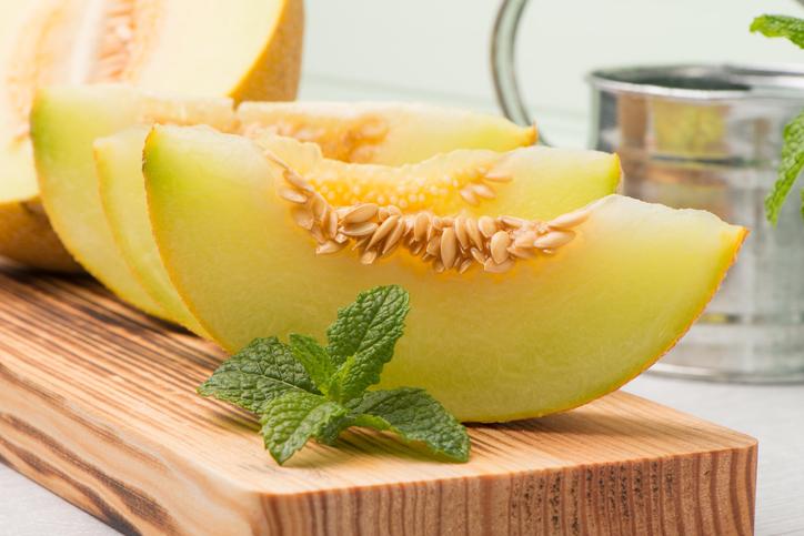 Porciones de melón