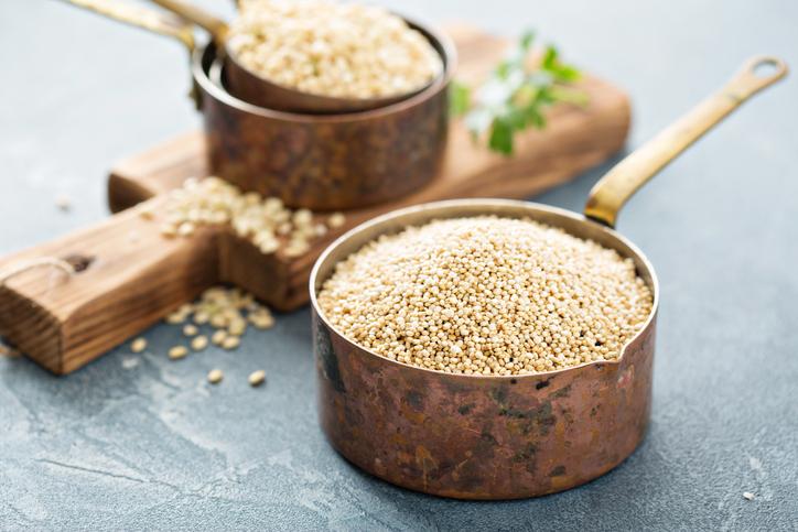 Recipientes con quinoa