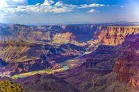 Panorámica de un cañón paisaje