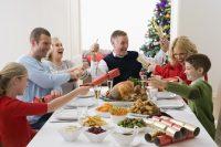 Comida de Navidad en familia