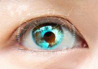 Reflejo en ojo verde