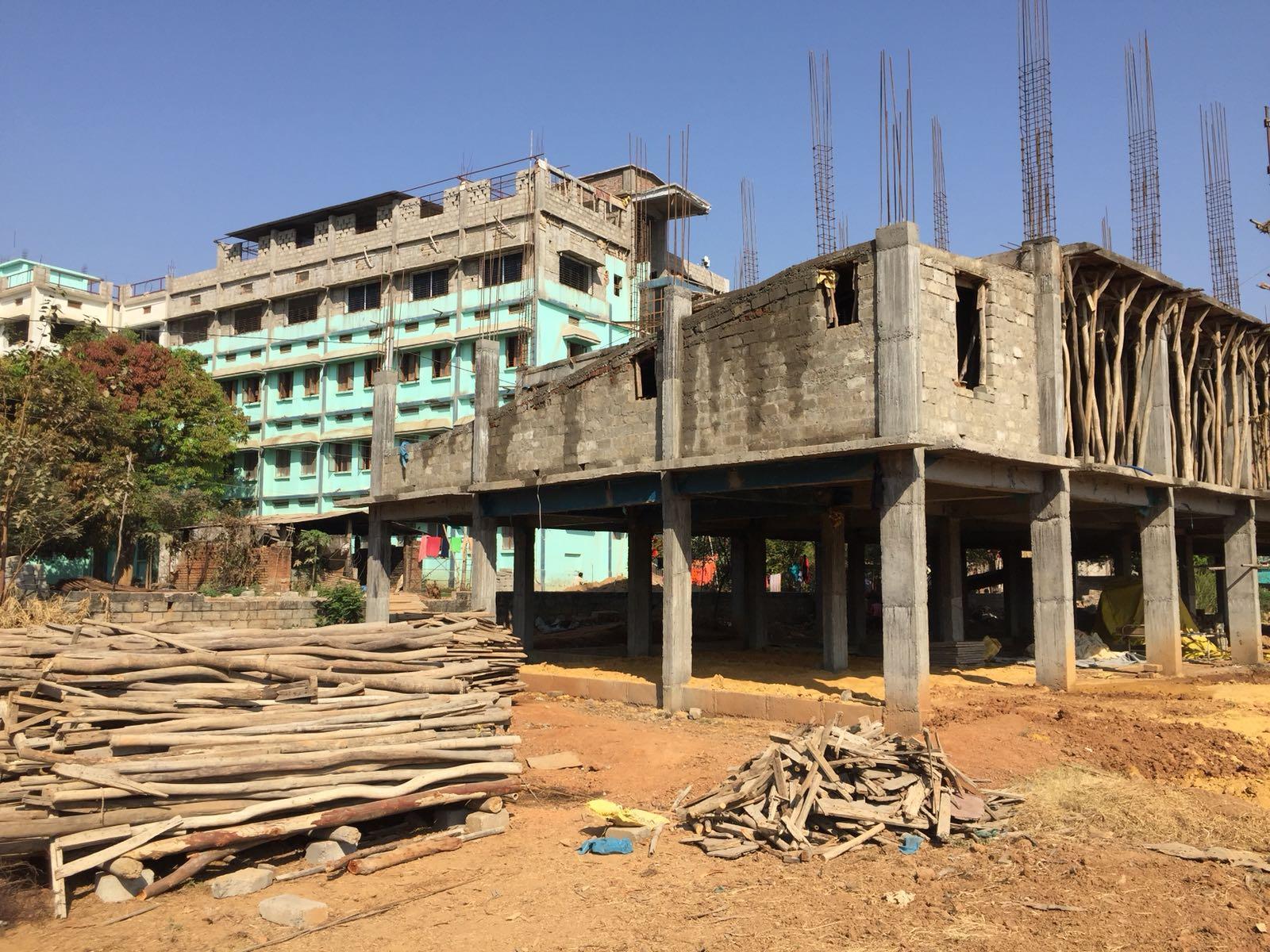 Avances en la construcción del hospital oftalmológico