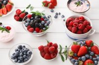 Moras, arándanos y fresas