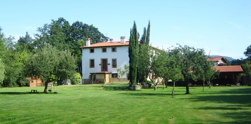 Jardín de hotel rural