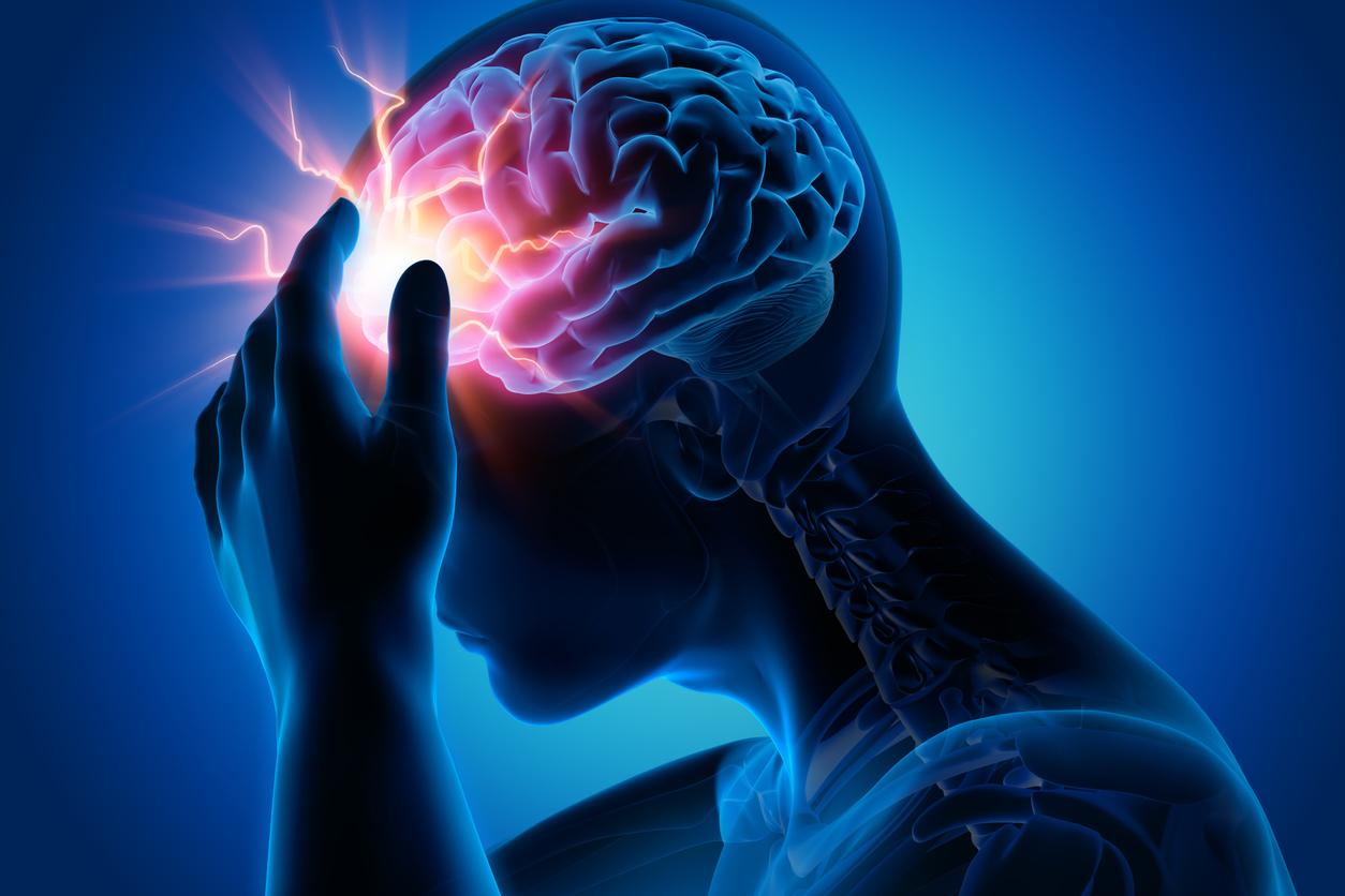 Ilustración sobre dolor o pinchazos en la cabeza